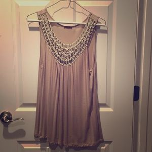 Beautiful Embellished sleeveless top with sequens